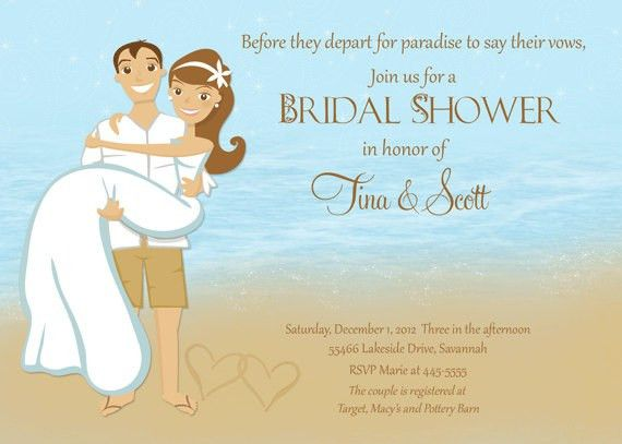 Beach Theme Bridal Shower Invitations | badbrya.com