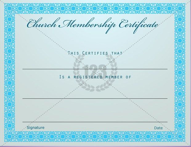 Prestigious Church Membership Certificate Template Free Download ...