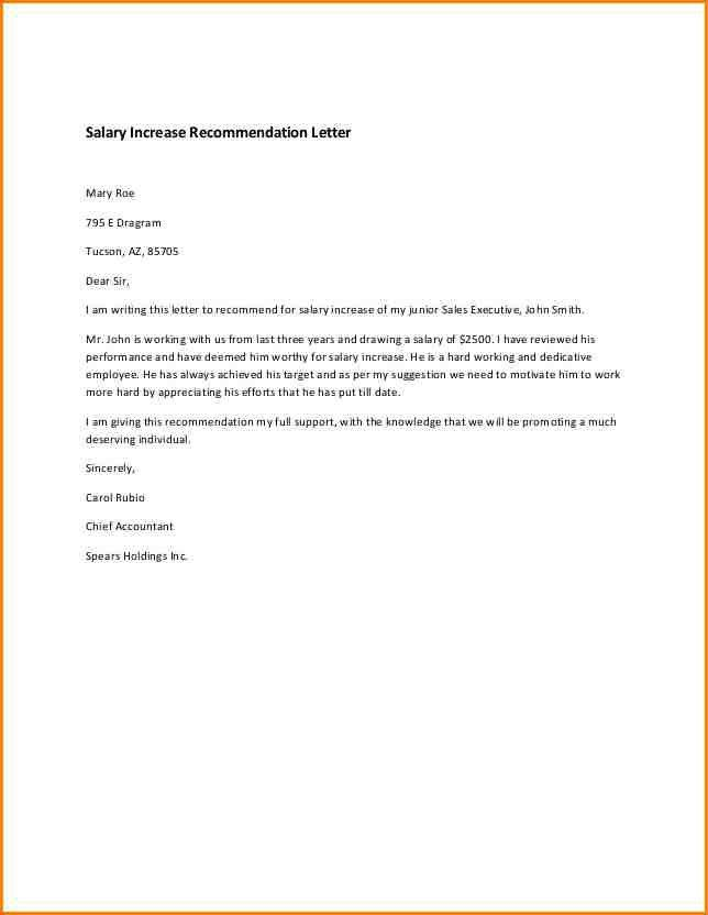 6+ salary increase letter template | writable calendar