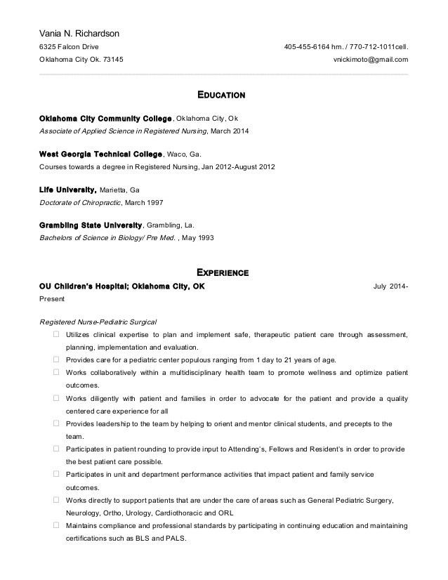 updated RN resume