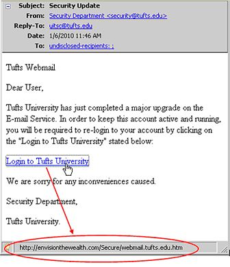 Email Security Tips | Tufts Technology Services