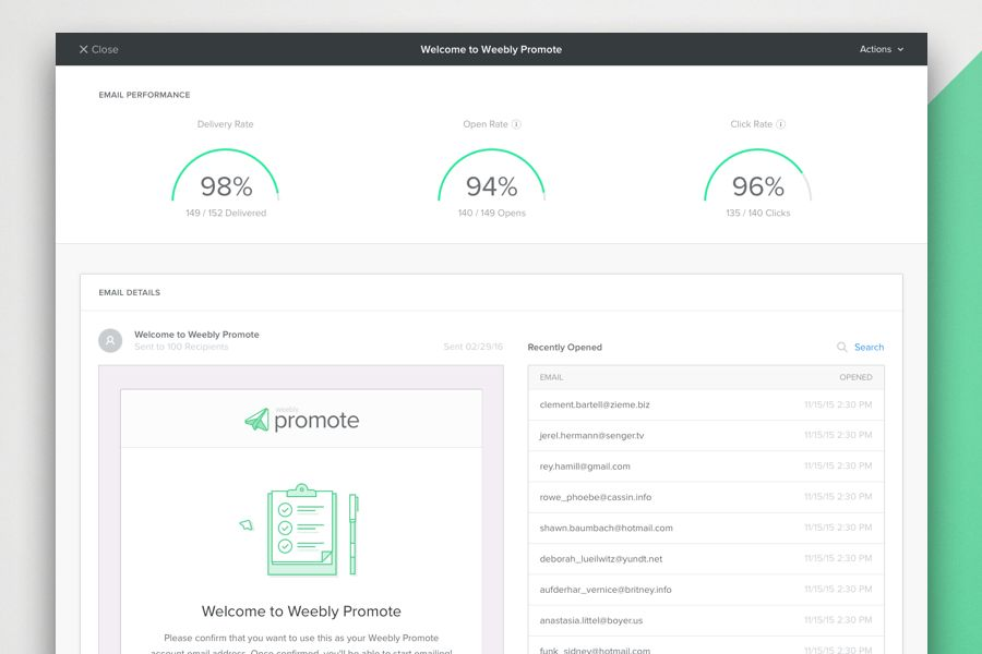 Announcing Weebly Promote: Simple Email Marketing to Grow Your ...