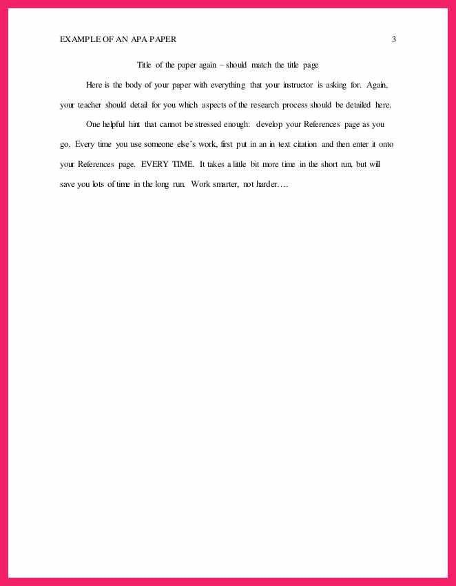 example of an abstract apa | bio letter format