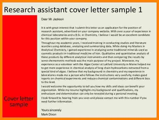 7+ research assistant cover letter format | job resumed