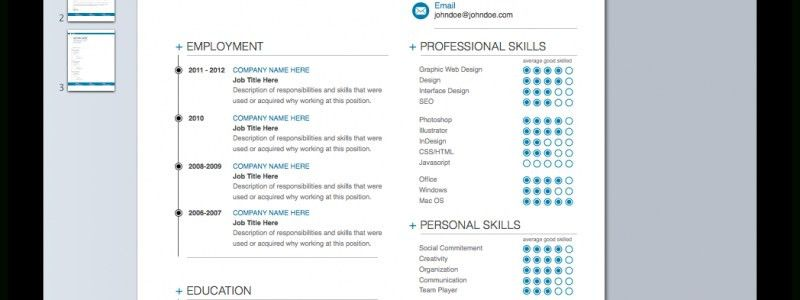 Apple Resume Templates For Pages. mac resume template 44 free ...