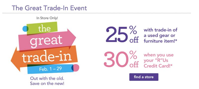 Trade In Your Old Baby Gear at Toys R Us for Discount Coupons