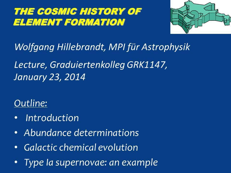 The Cosmic History of Element Formation - ppt video online download