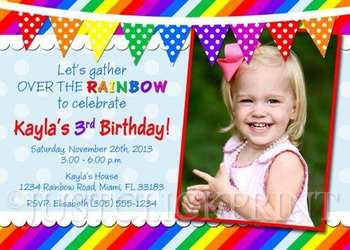 best sample birthday card invitation templates over the rainbow ...