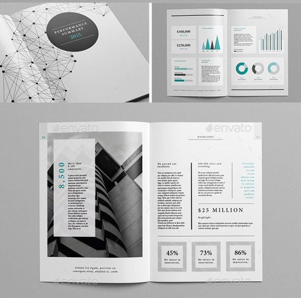 20 Best InDesign Annual Report Templates | Brochure | Pinterest ...
