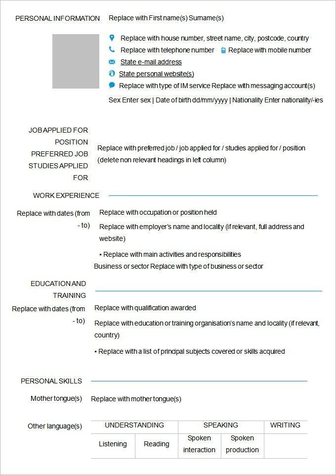 40 Blank Resume Templates Free Samples Examples Format Simple ...