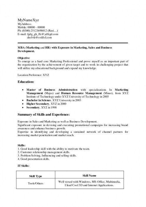 mba admission resume sample richardson mba application resume