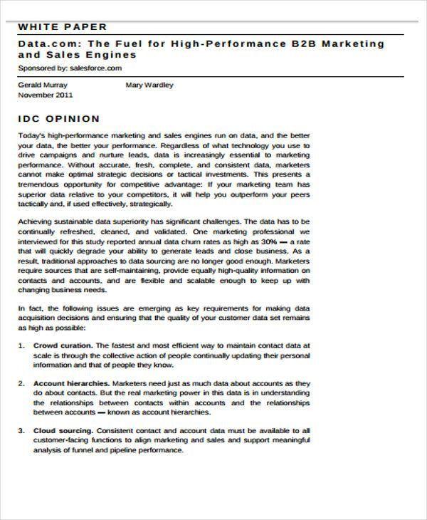 43+ Free White Paper Templates | Free & Premium Templates