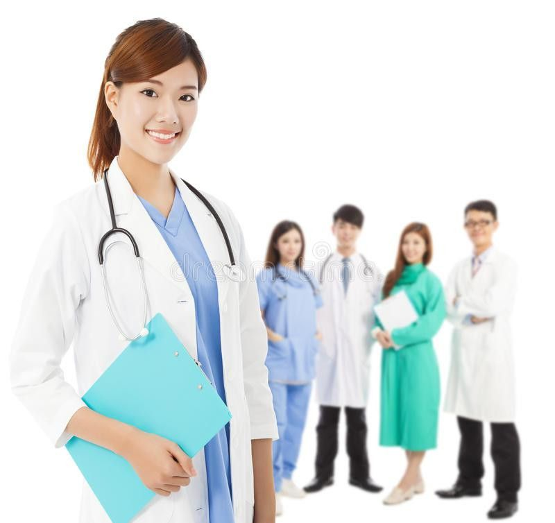 Professional Medical Doctor With Her Team Stock Photo - Image ...