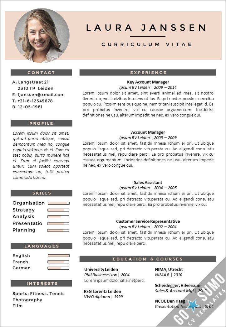 Creative cv template. Fully editable in Word and PowerPoint ...