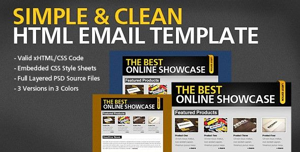 Simple & Clean HTML Email Template by berber | ThemeForest