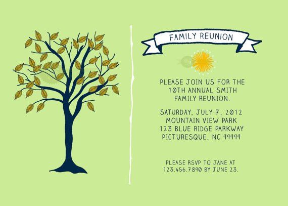 Family Reunion Invitation | Family reunion invitations, Family ...