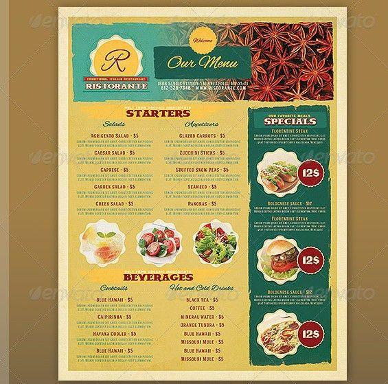 17 Useful Vintage Restaurant Menu Templates (PSD & InDesign ...