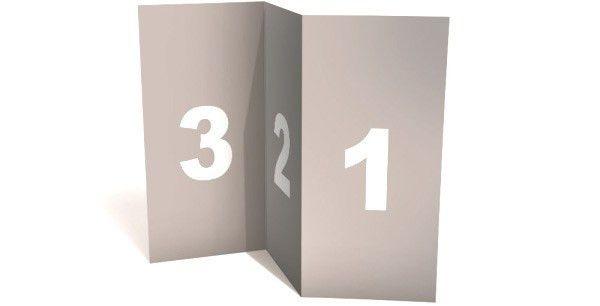 Blank Tri Fold Brochure Template Mock-up PSD
