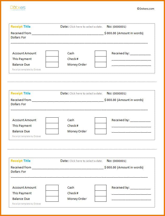 8+ cash receipt template word | Expense Report