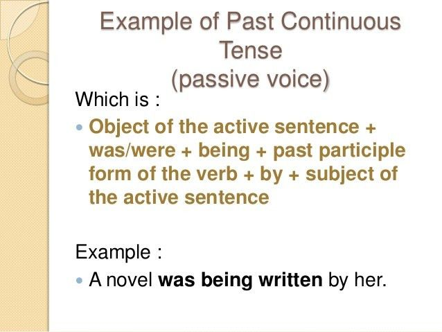 Past Continuous Tense (Active & Passive Voice)