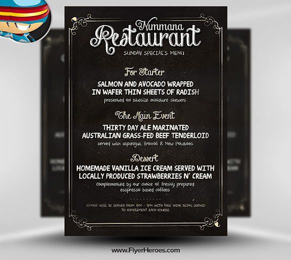 Restaurant Flyer Template – 56+ Free Word, PDF, PSD, EPS, InDesign ...