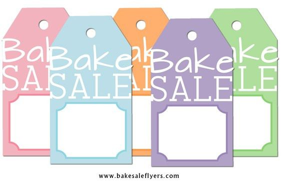 Free Printable Bake Sale Tags | Bake Sale Flyers – Free Flyer Designs