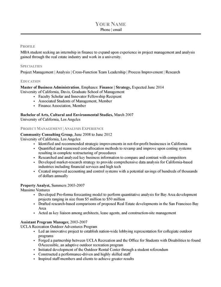 The 25+ best Chronological resume template ideas on Pinterest ...
