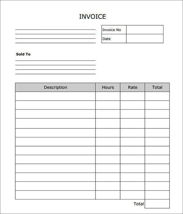 Blank Invoice Template 10 - Resume Templates