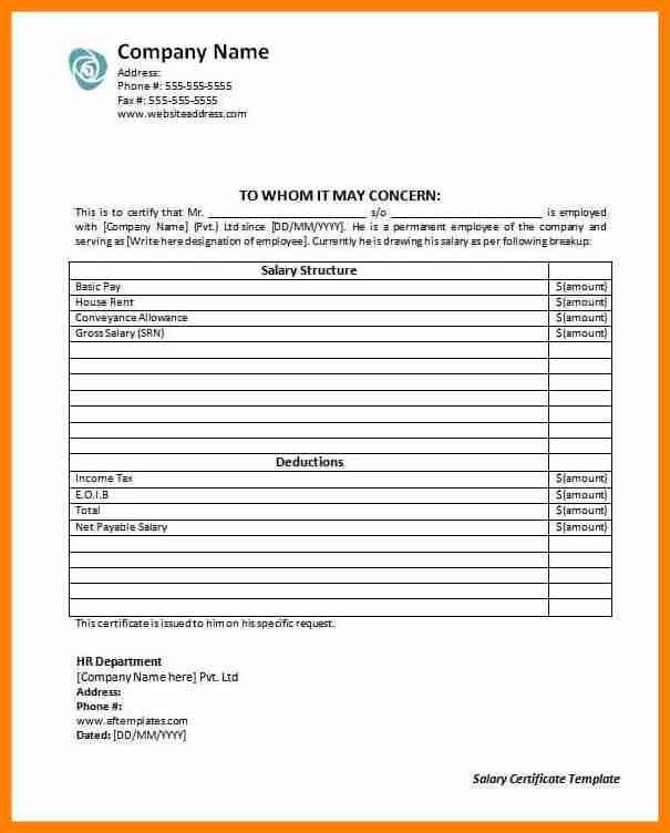10+ salary certificates samples | forklift resume