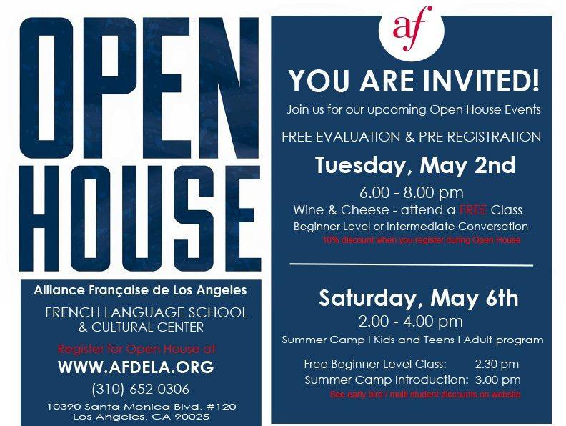Open House | Alliance Française de Los Angeles