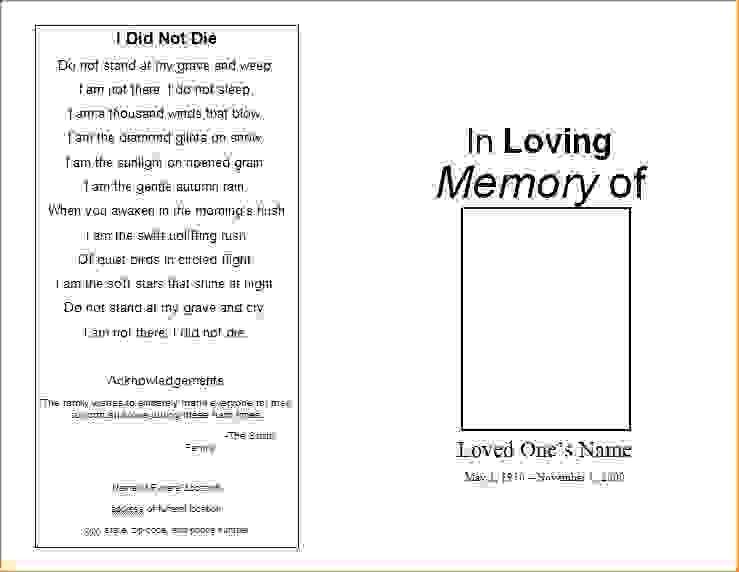 6 free printable funeral program templateAgenda Template Sample ...