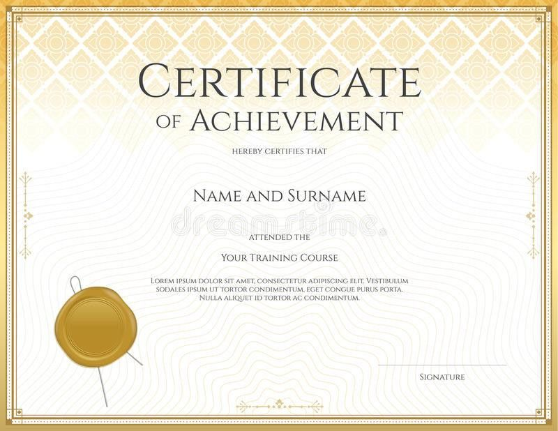 Certificate Template For Achievement, Appreciation, Participation ...