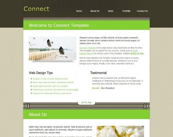 14 Free HTML / CSS Website Templates From July 2013