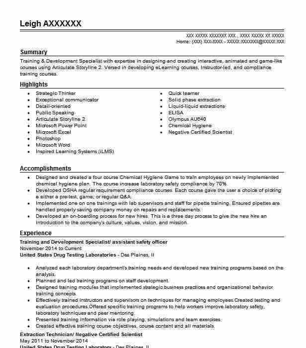 Best Training And Development Resume Example | LiveCareer