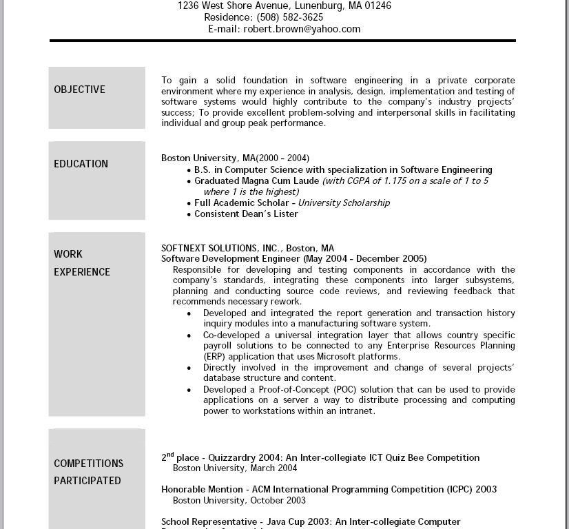 Sample Resume Objectives. Examples Of Resume Objectives ...