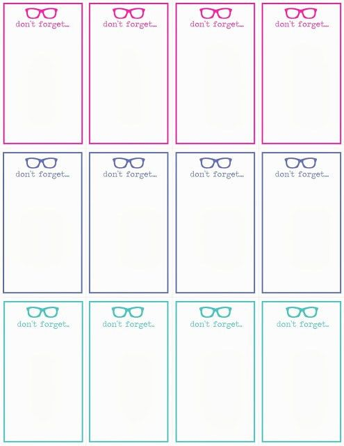 DON'T FORGET... cards template download! #reminders #notes #cards ...