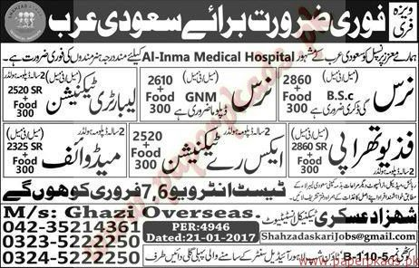 Nurses Laboratory Technicians and Other Jobs in Saudi Arabia ...