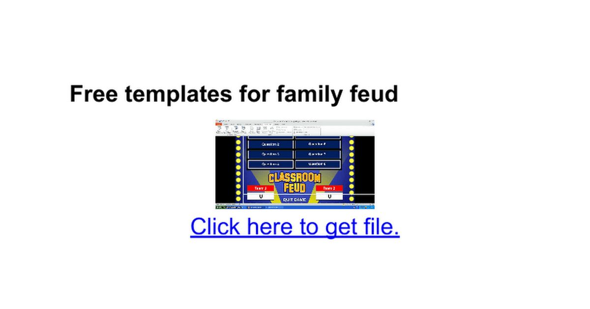 Free templates for family feud - Google Docs