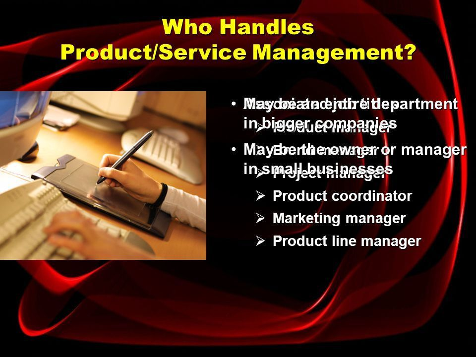 Nature of Product/Service Management - ppt download