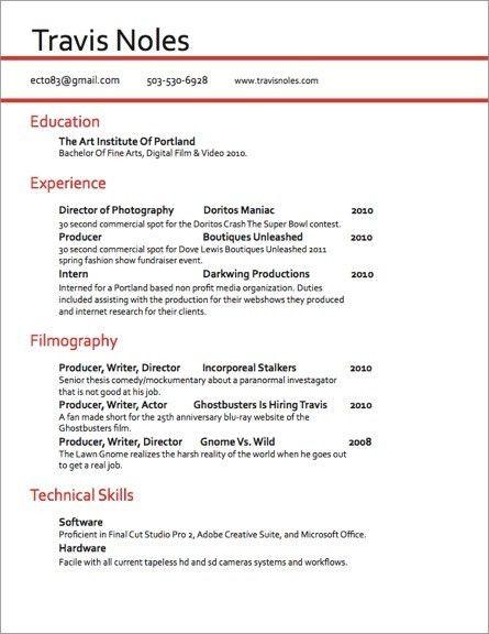 Download Video Production Resume | haadyaooverbayresort.com