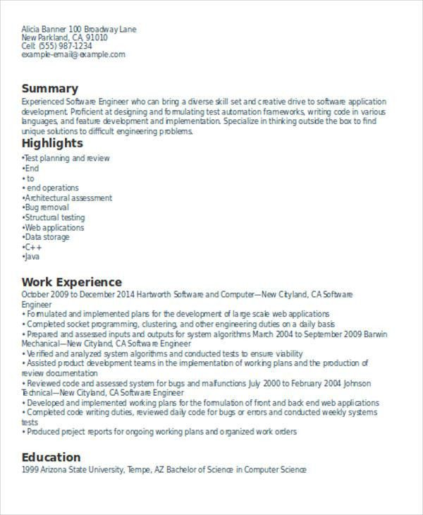 Download Resume Format With Work Experience | haadyaooverbayresort.com