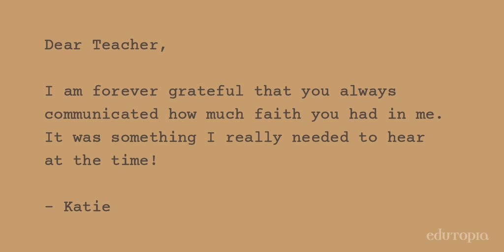"edutopia on Twitter: ""Heartfelt Thank-You Letters to The Teachers ..."