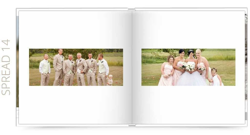 Wedding Album Photoshop Template | Simple | The Album Cafe