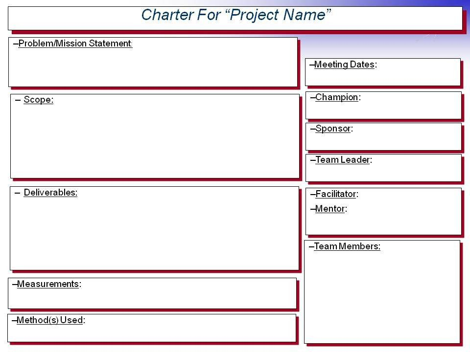 team charter template powerpoint best 25 project charter ideas on ...