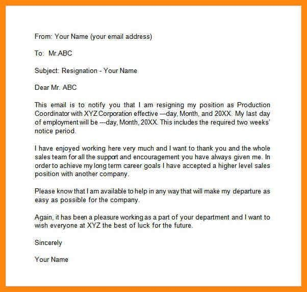 9+ resignation email example | nurse resumed