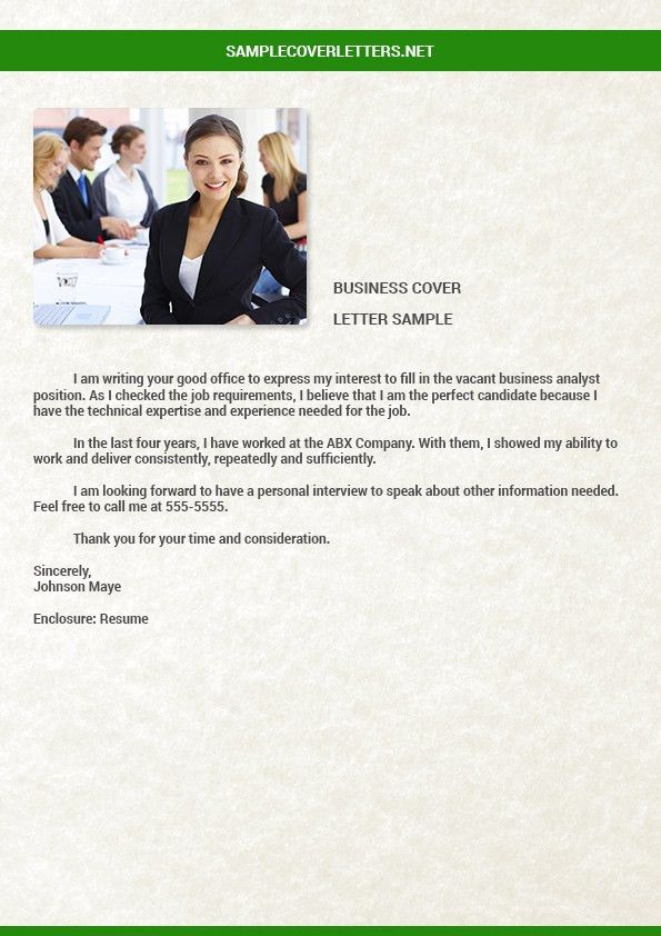Business Plan Cover Letter. Business Product Proposal Sample ...