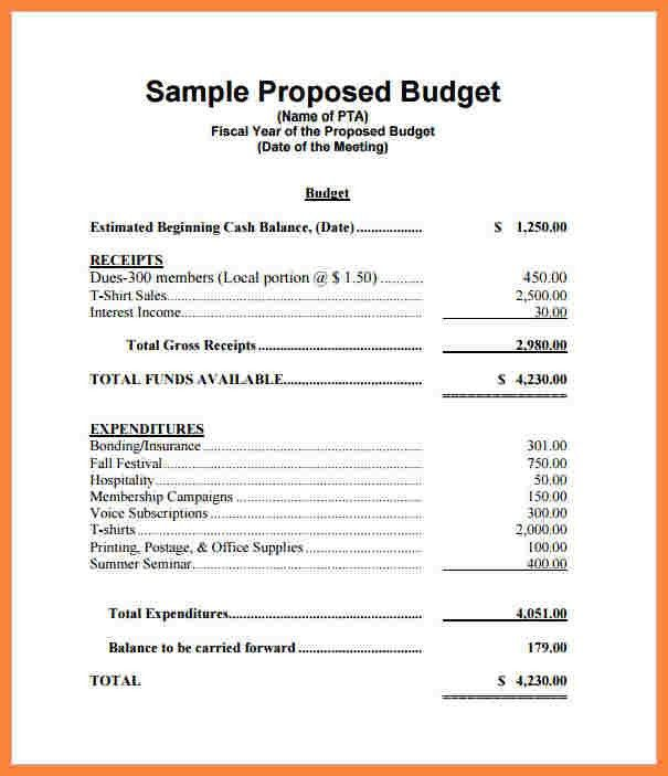 8+ format budget proposal | Bussines Proposal 2017