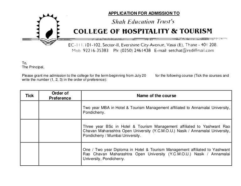 SETCHAT Admission Form 2013-2014