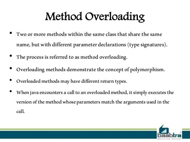 Method overloading and constructor overloading in java