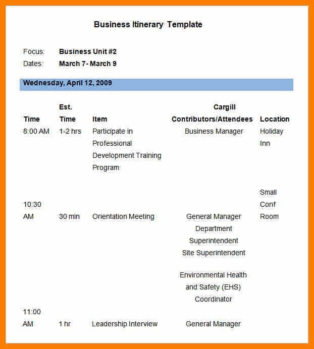 9+ business meeting itinerary | science-resume